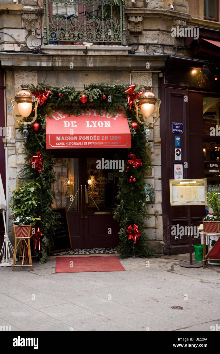 Front Door Entrance Of Restaurant De Lyon Bistro De Lyon Stock