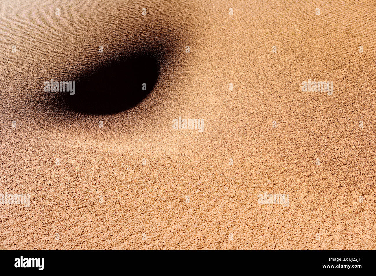 Formation of the sand in the desert - Stock Image