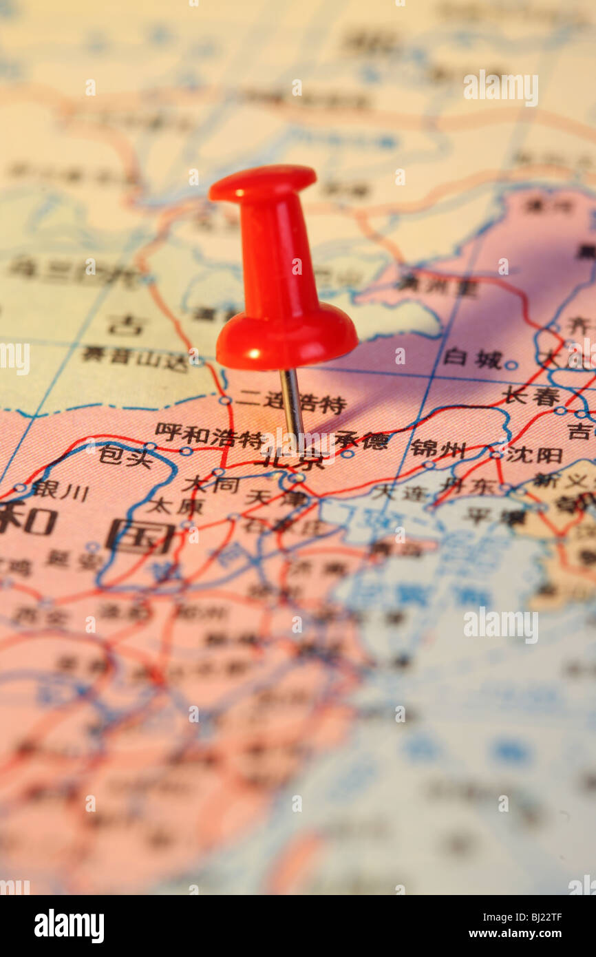 Chinese map,still life - Stock Image