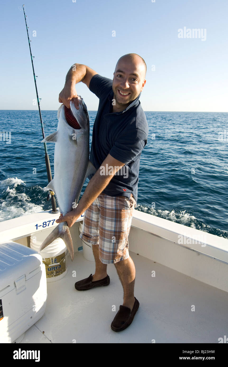A man with he´s catch - Stock Image