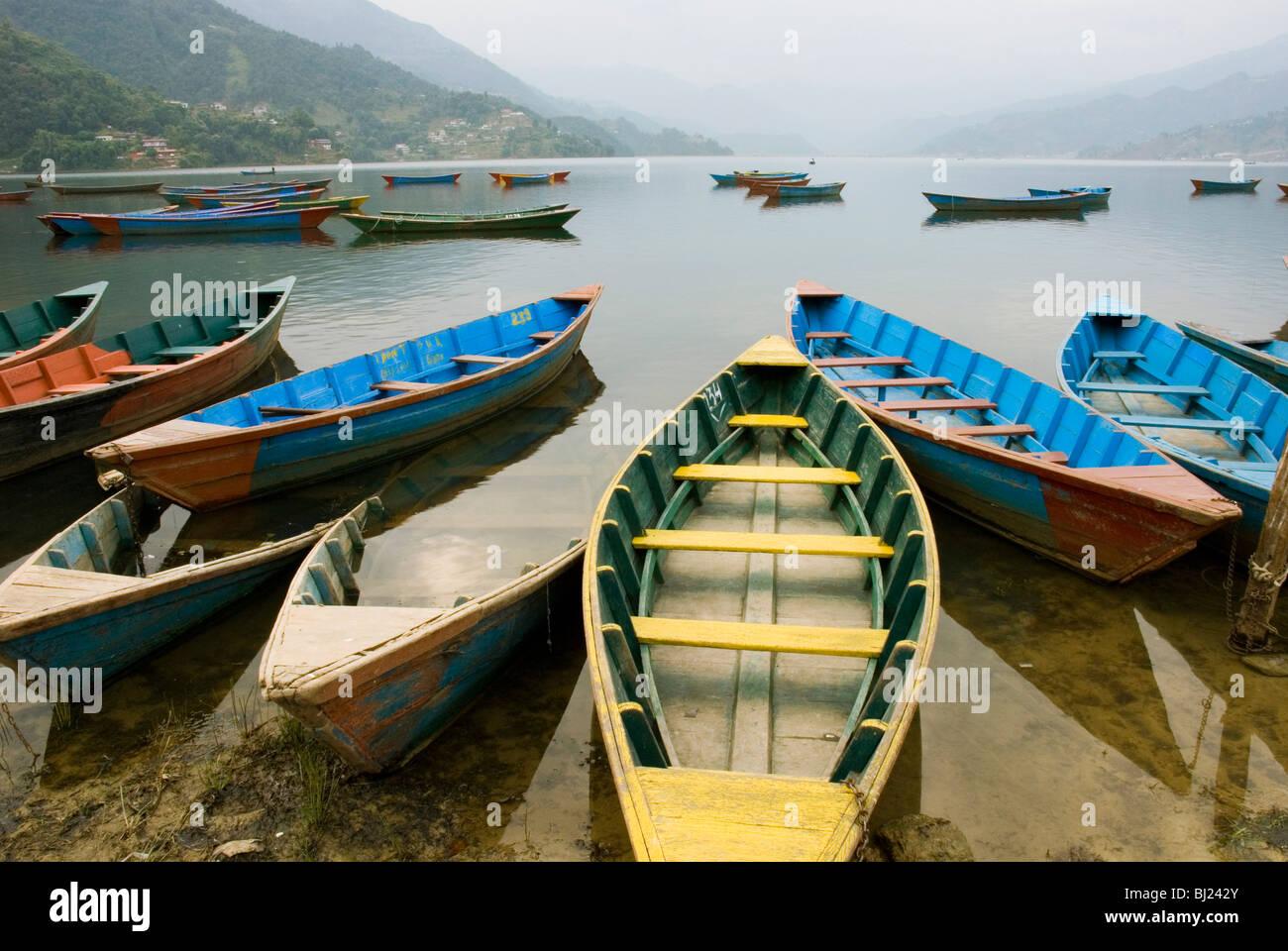 Pokhara Lake - Stock Image