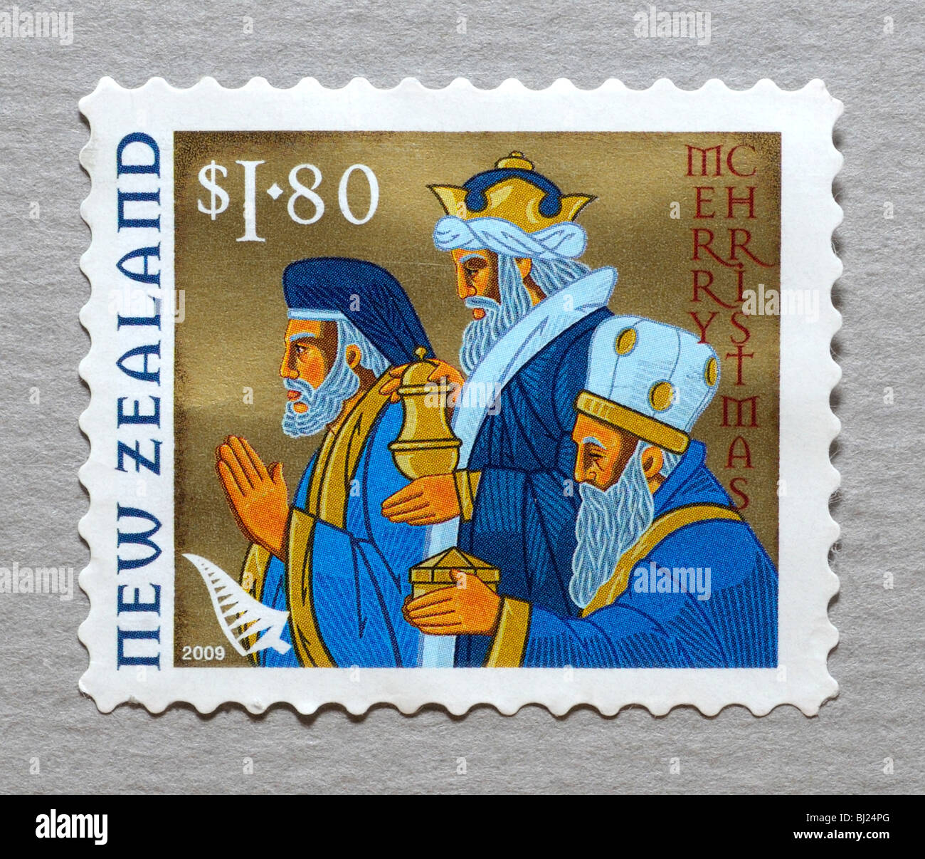 New Zealand Postage Stamp. - Stock Image