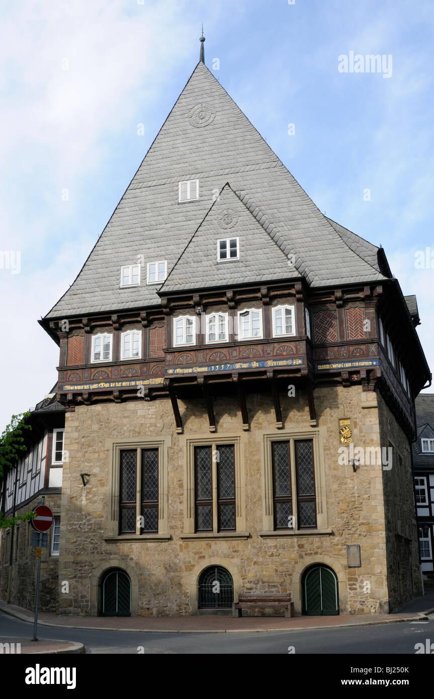 Bäckergildehaus, Goslar, Niedersachsen, Deutschland. - Bakers' Guildhall, Goslar, Lower Saxony, Germany. Stock Photo