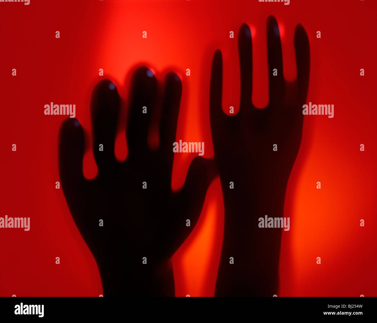 Rubber gloves fine art - Stock Image