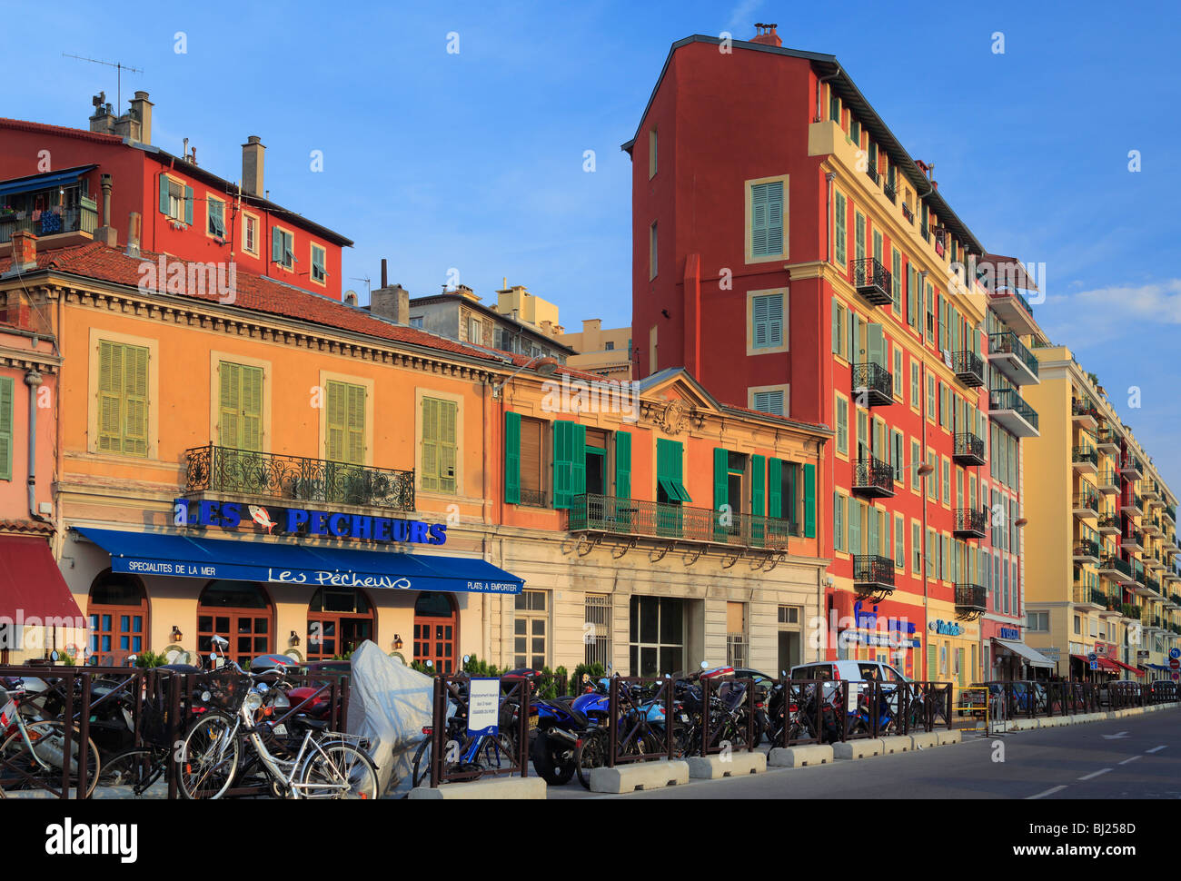 Street scene in Nice on the French riviera - Stock Image