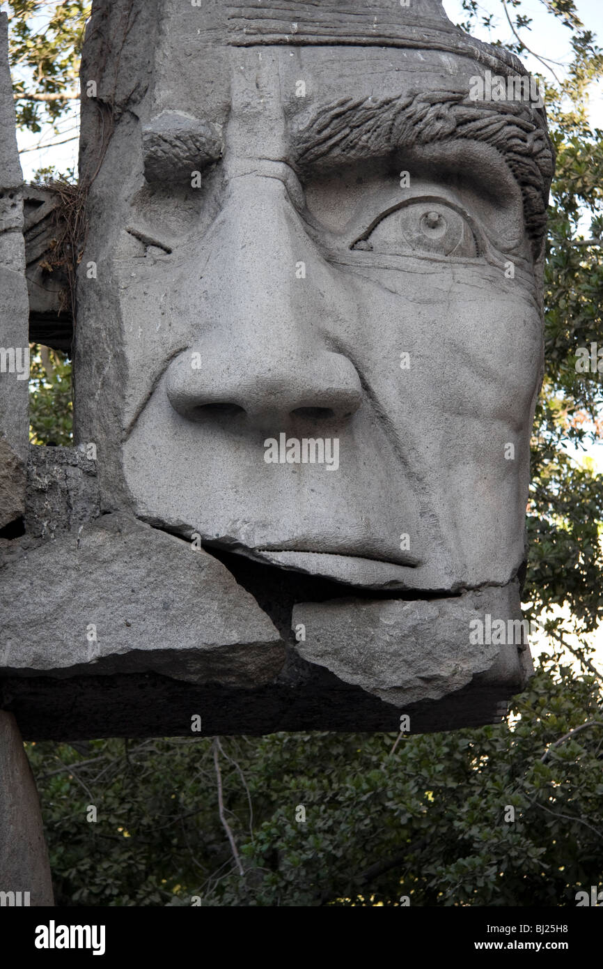 Indigenous People sculpture, Santiago, Chile, South America Stock Photo