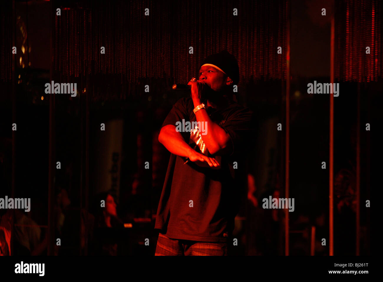 Singer 50 Cent live in Athens - Stock Image