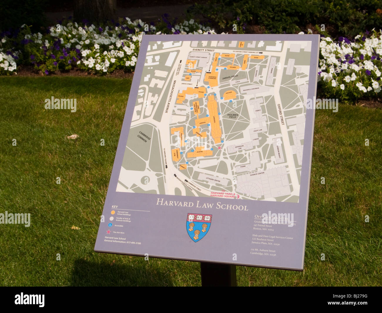 A map of the Law School on the Campus of Harvard University Stock ...