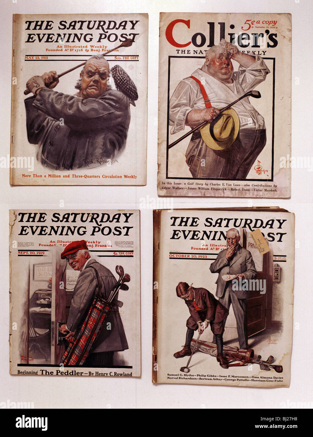 Saturday Evening Post And Collier S Magazine Covers American Stock Photo Alamy