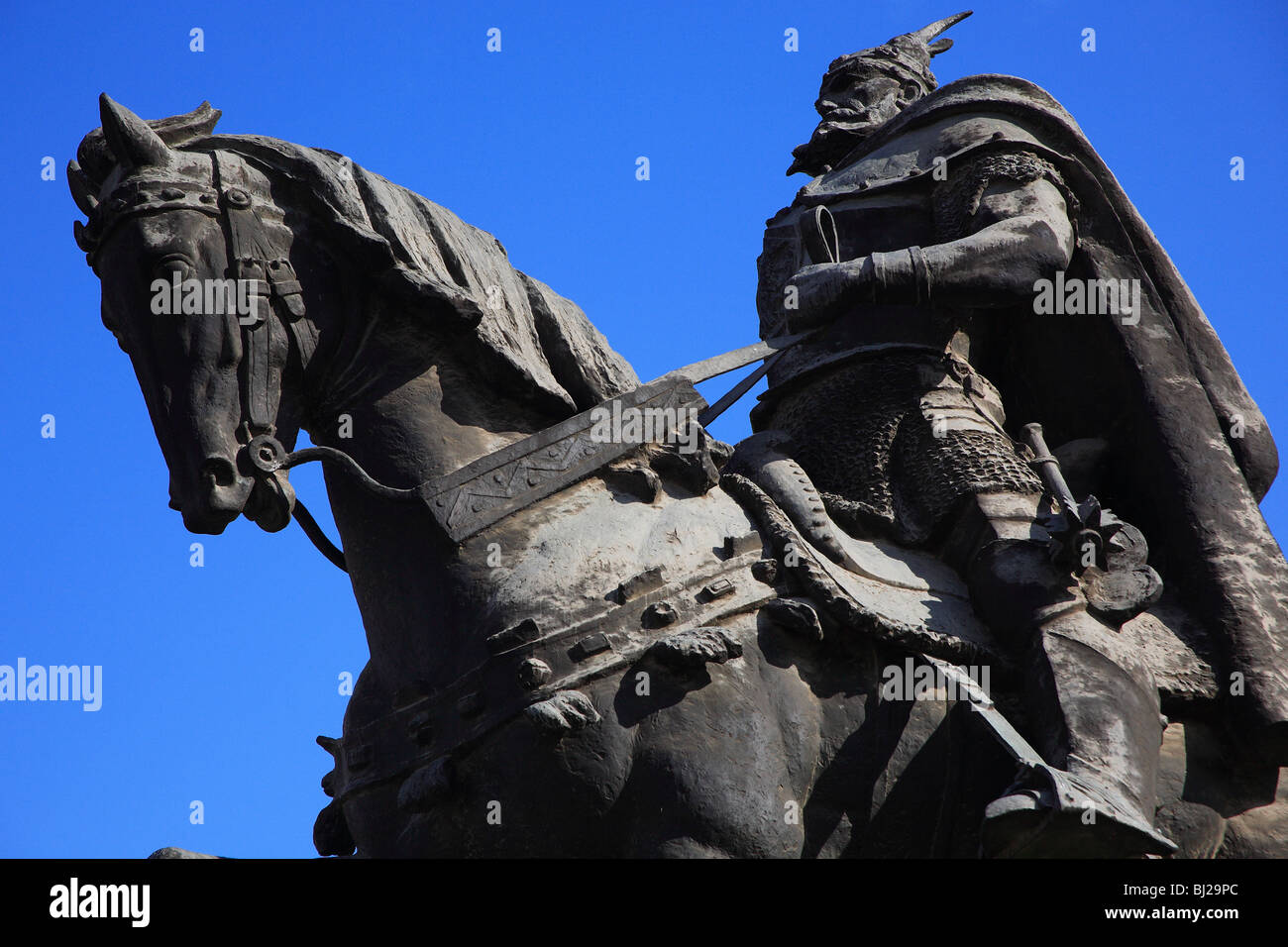Statue of Skanderbeg, Tirana, Albania, Europe Stock Photo