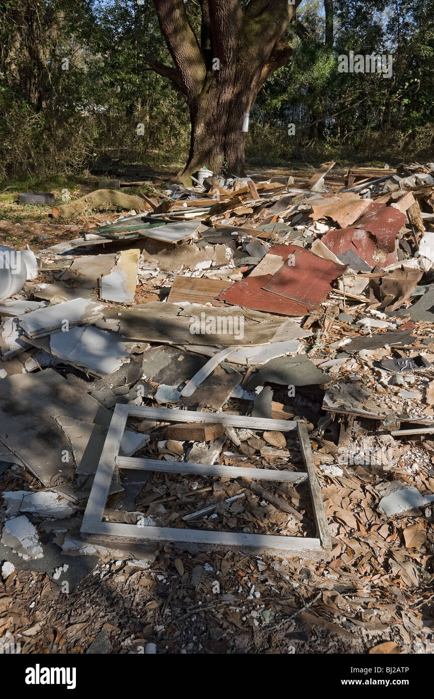 ruins of a demolished home High Springs Florida - Stock Image