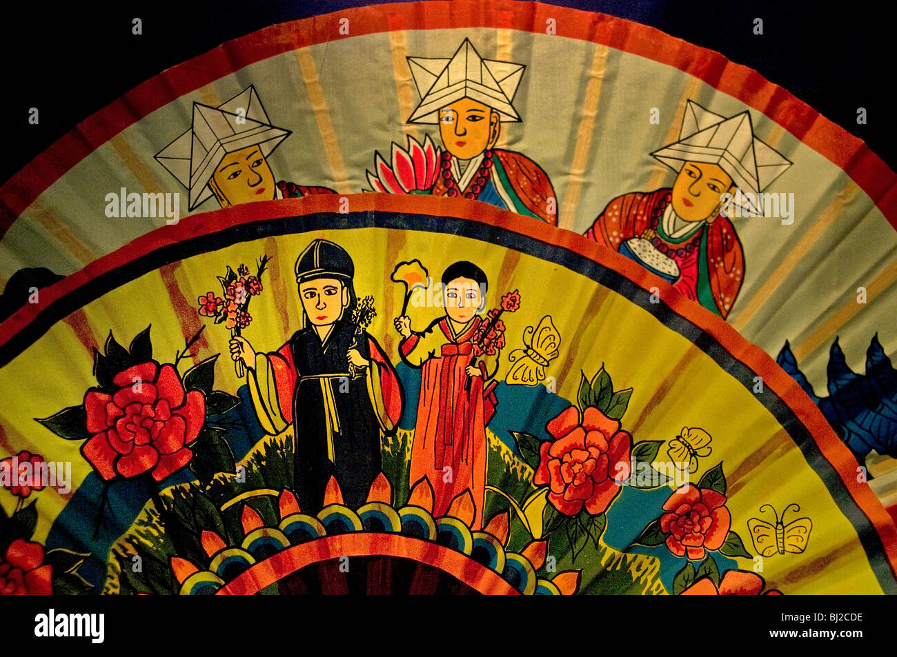 Korean Korea fold range of shamanistic rituals - Stock Image