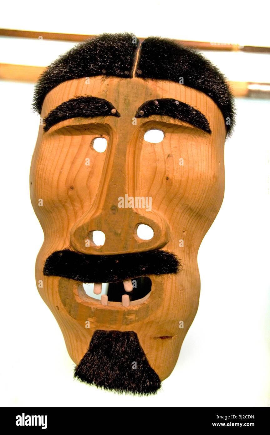 Spiritual Mask Greenlanders Native Indian Indians - Stock Image