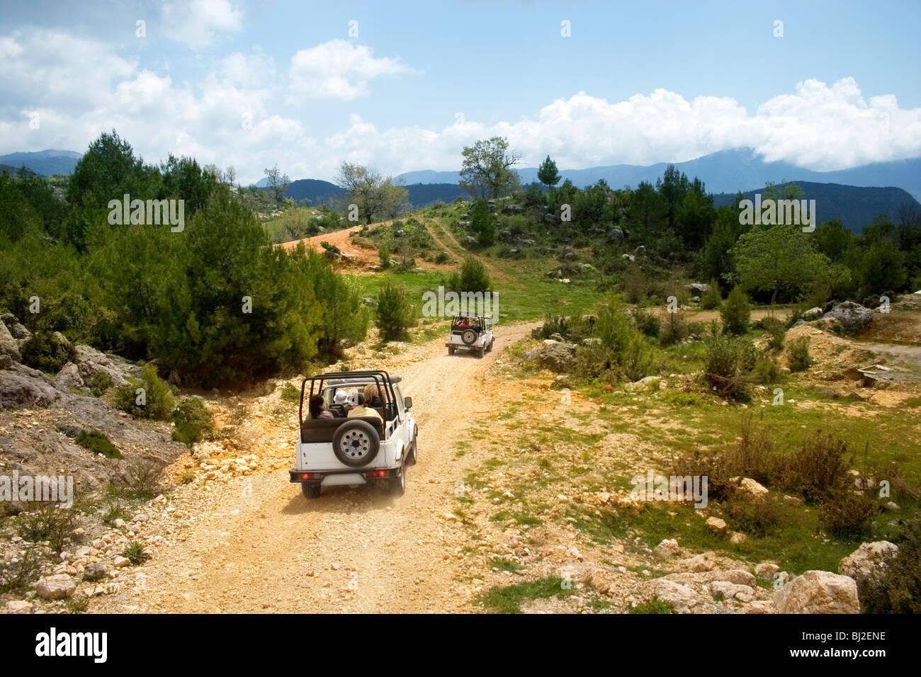 Jeep safari. Mountains of Alanya, Turkey. - Stock Image