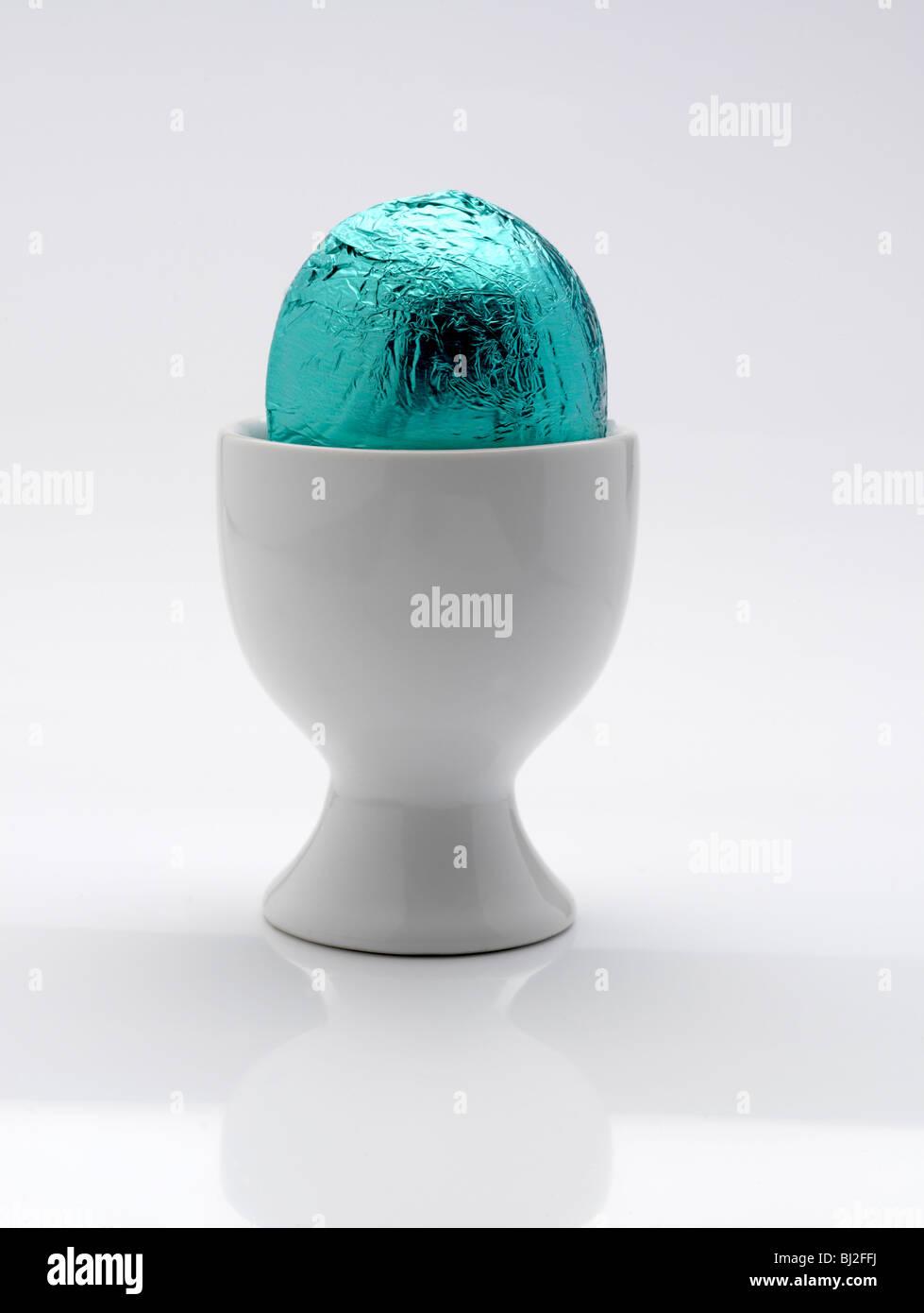 Easter Egg Blue Foil Stock Photos & Easter Egg Blue Foil Stock ...