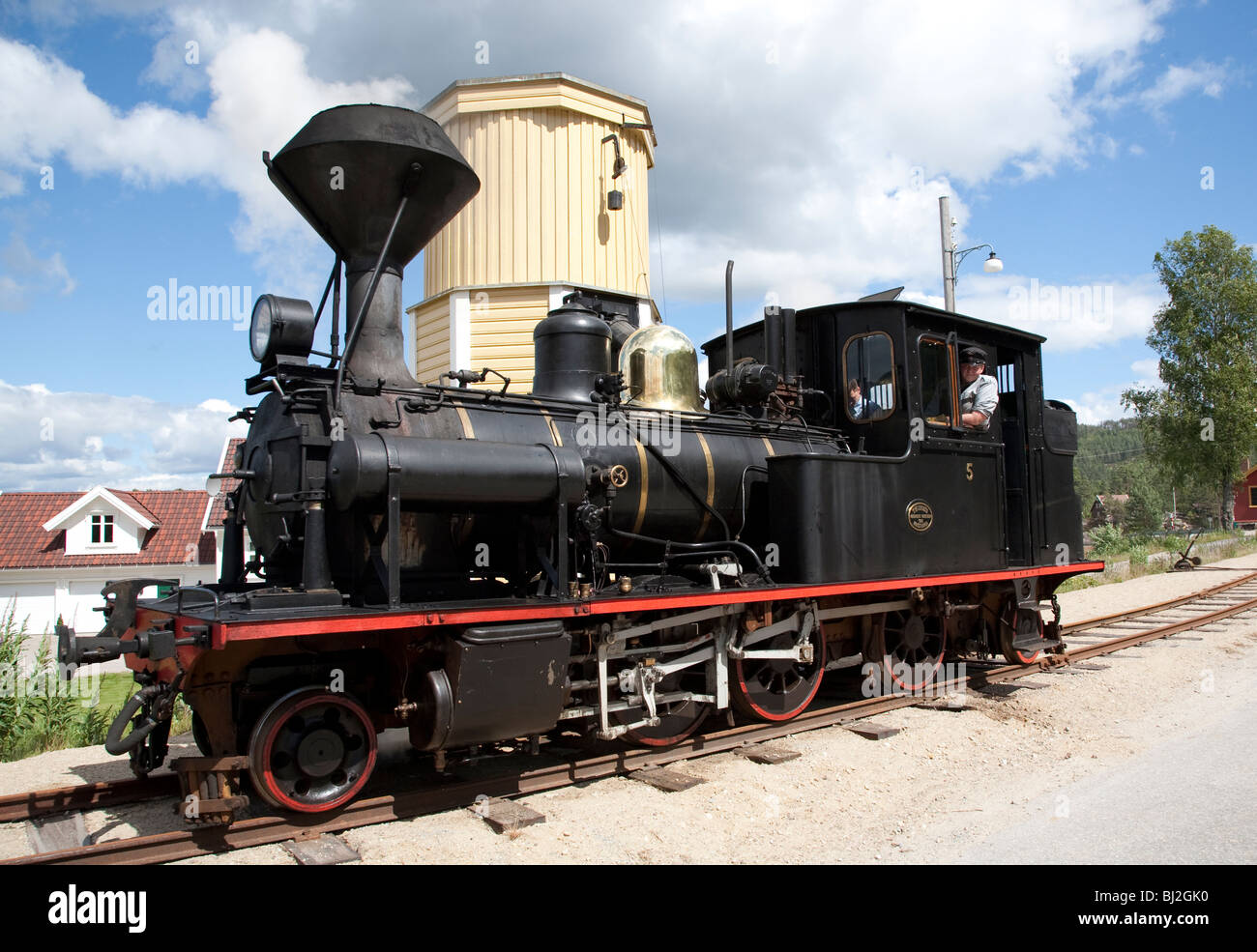 Norwegian steam engine at the The Setesdal Line - Stock Image