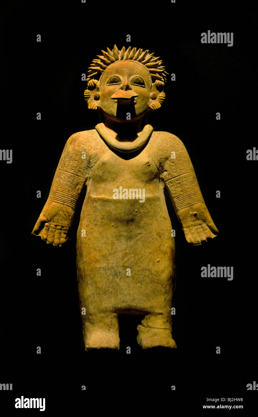 Woman Colombia Pre Colombian 3 Cent BC 3 Cent AD - Stock Image