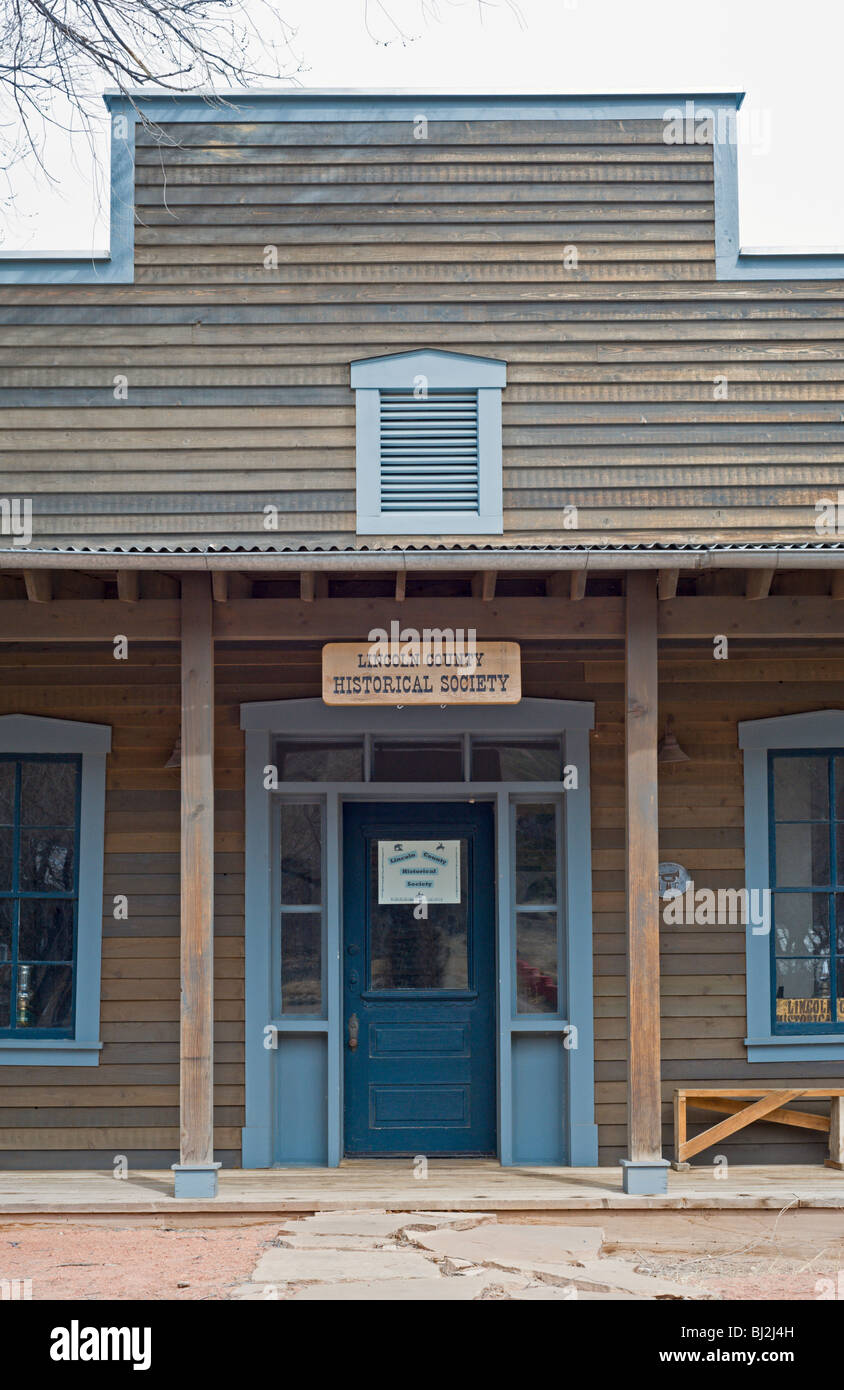 The Lincoln County Historical Society makes its home in Billy the Kid's wild west town of Lincoln, New Mexico. - Stock Image