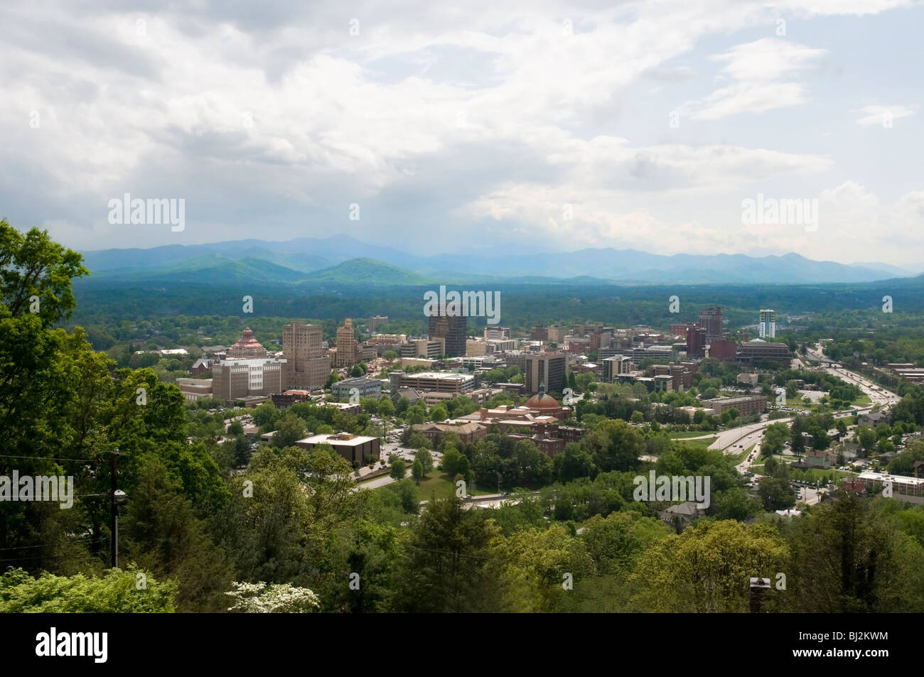 Asheville Skyline - Stock Image