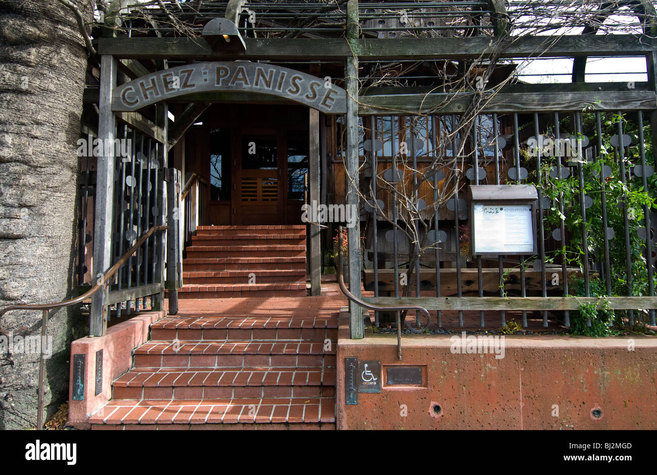 Chez Panisse Restaurant, Berkeley, California - Stock Image