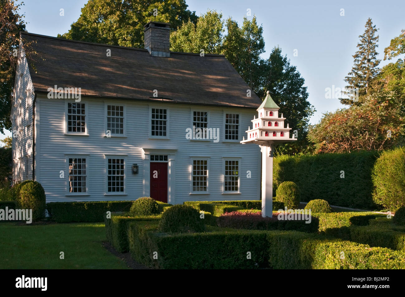 Connecticut Essex private residence with elaborate birdhouse - Stock Image