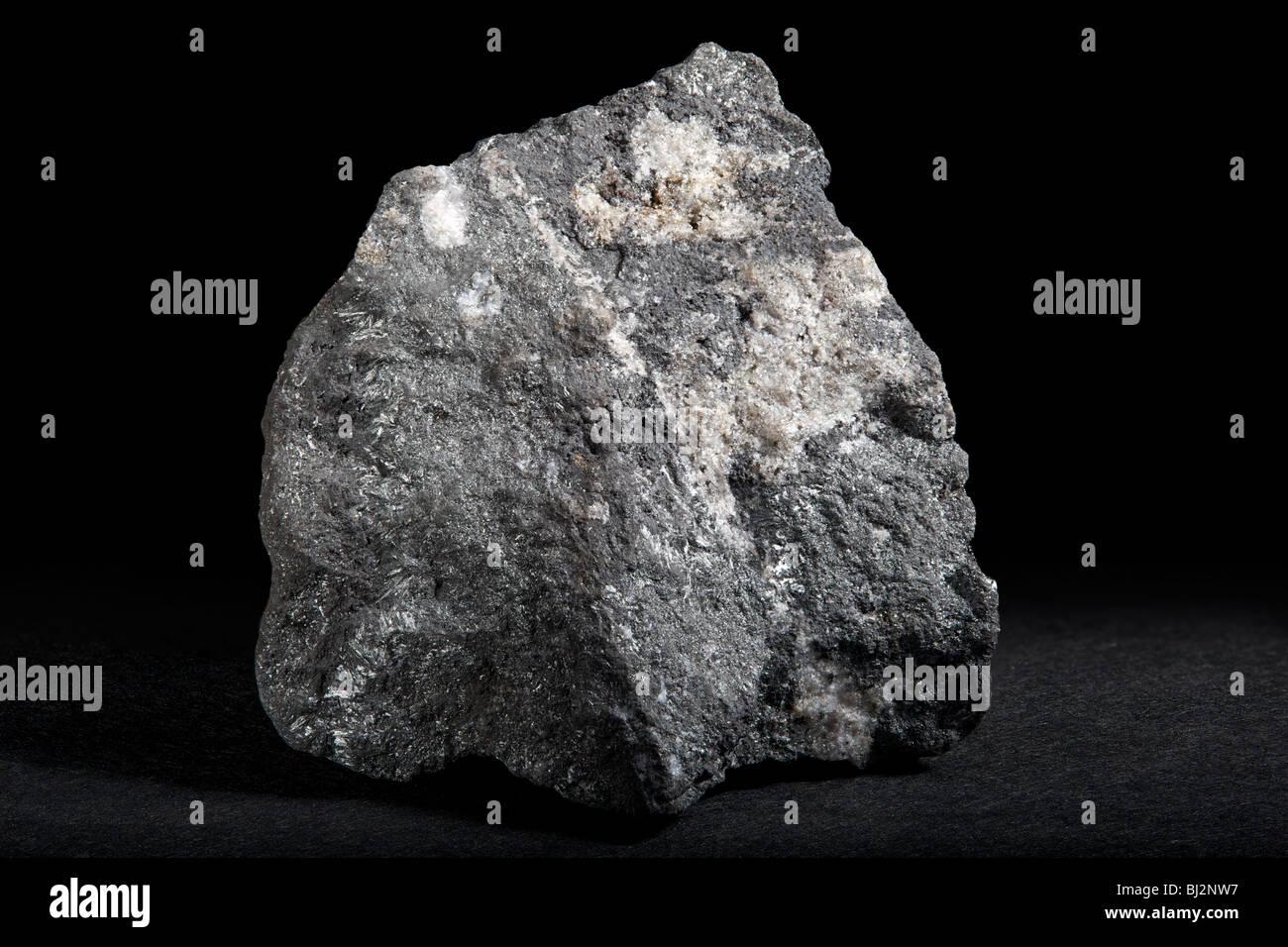 Pyrolusite (Manganese Ore) - Stock Image