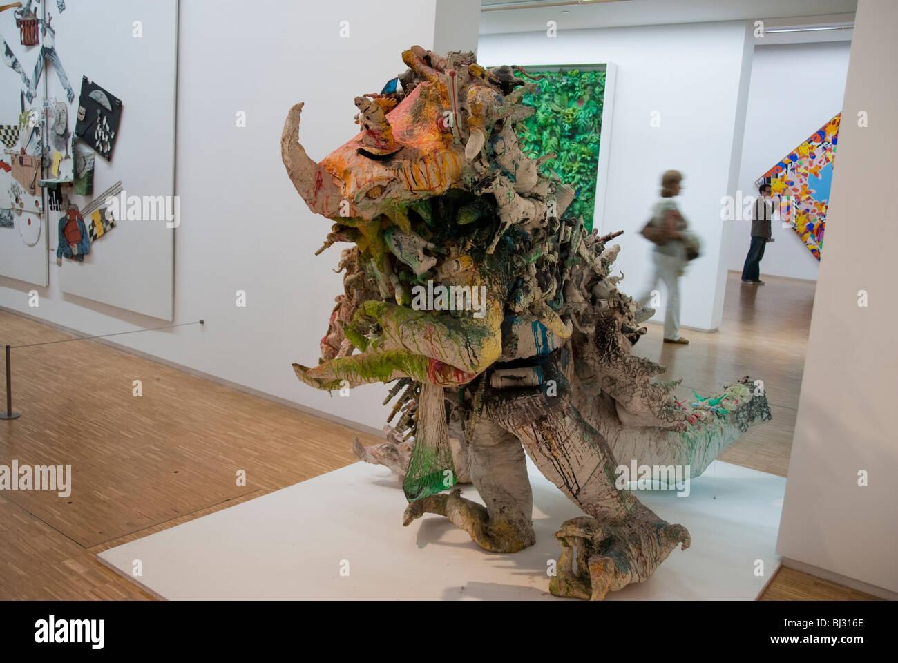 """Paris, France, People Visiting inside """"Centre Pompidou ..."""
