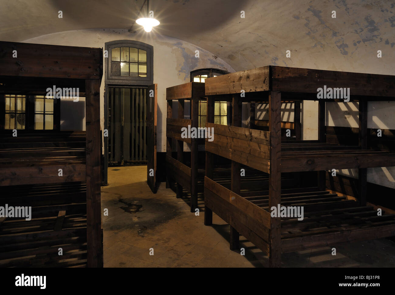 Bunk Beds In Barrack Room At The Fort Breendonk Second World War