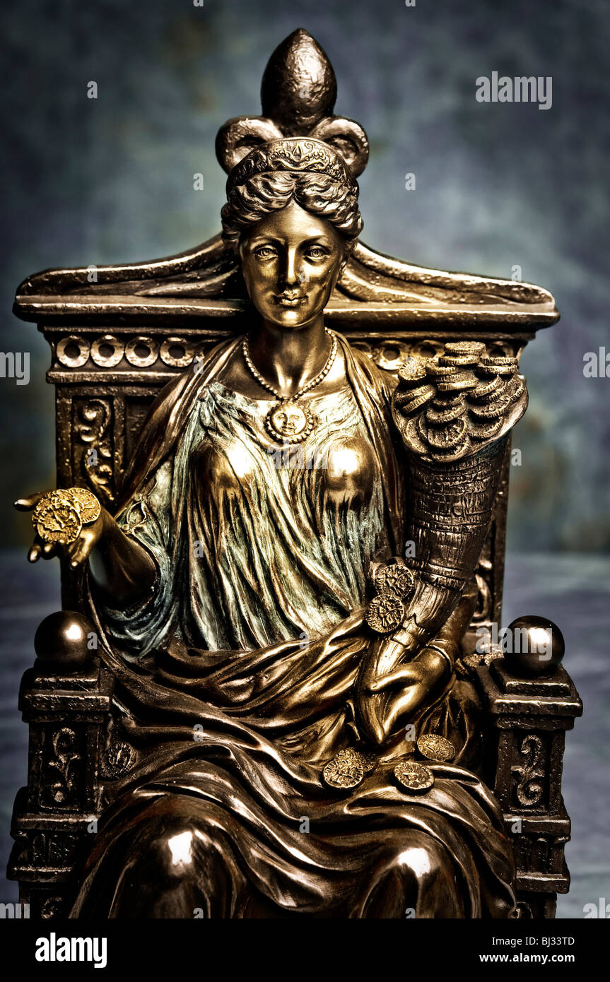 statue of goddess fortune - Stock Image