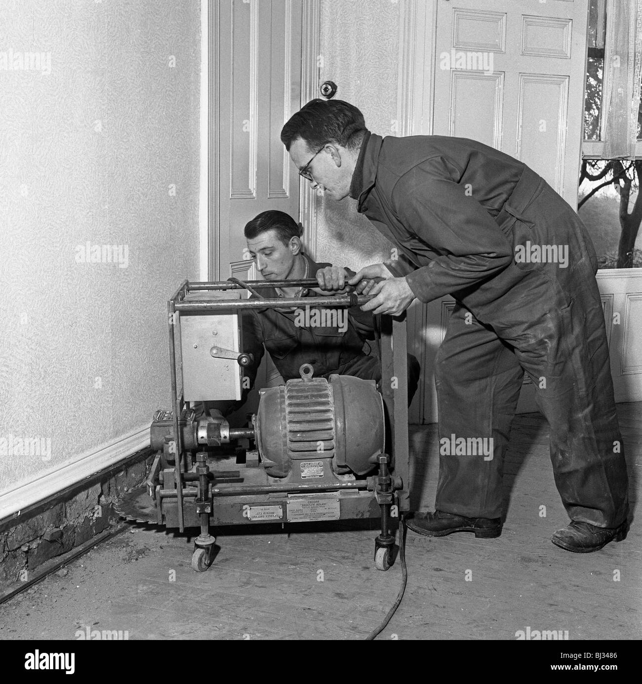 Damp proofing, Goldthorpe, South Yorkshire, 1957. Artist: Michael Walters - Stock Image