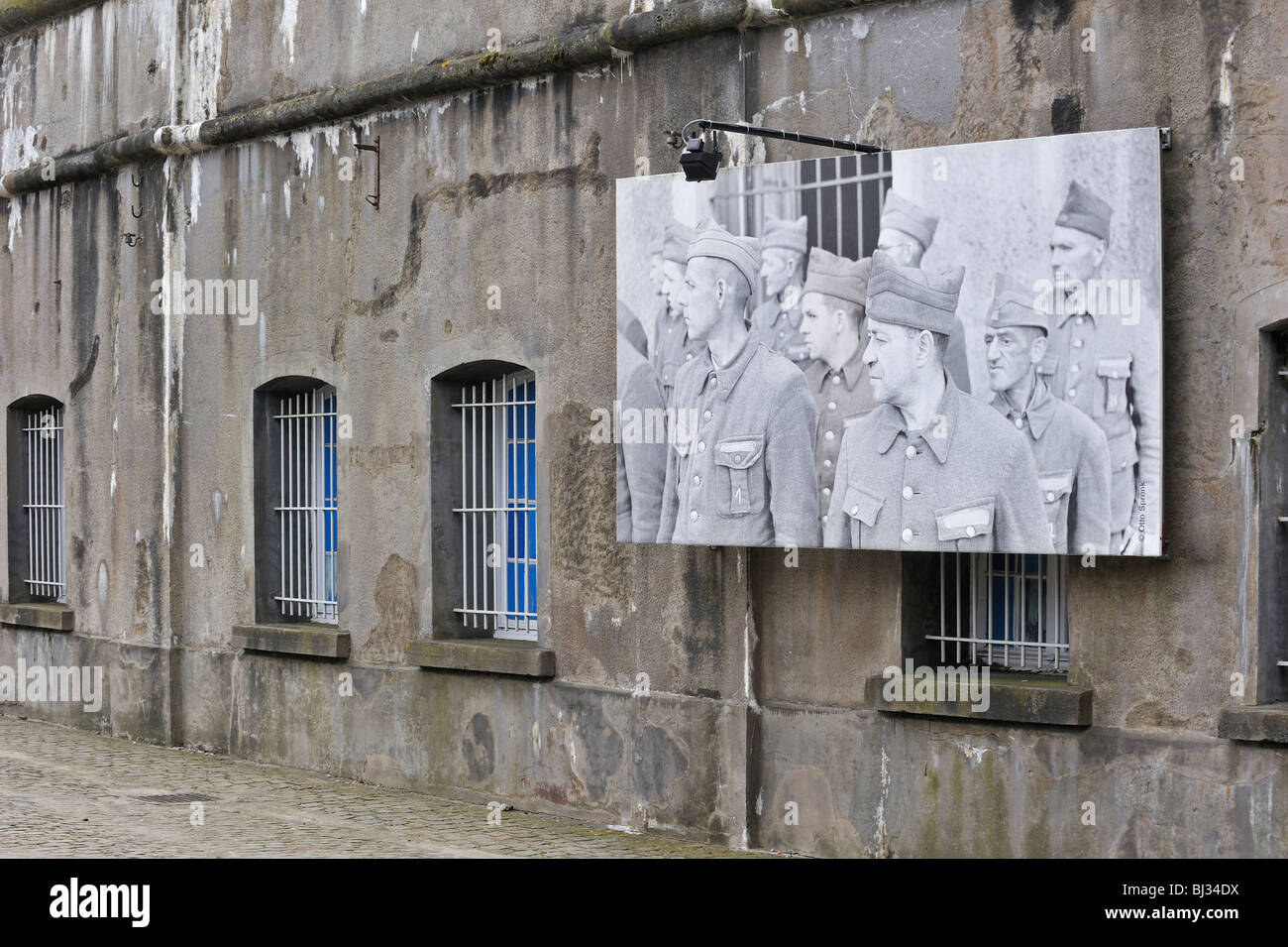 Picture of WW2 political prisoners at Fort Breendonk, a second World War Two concentration camp near Antwerp, Belgium - Stock Image