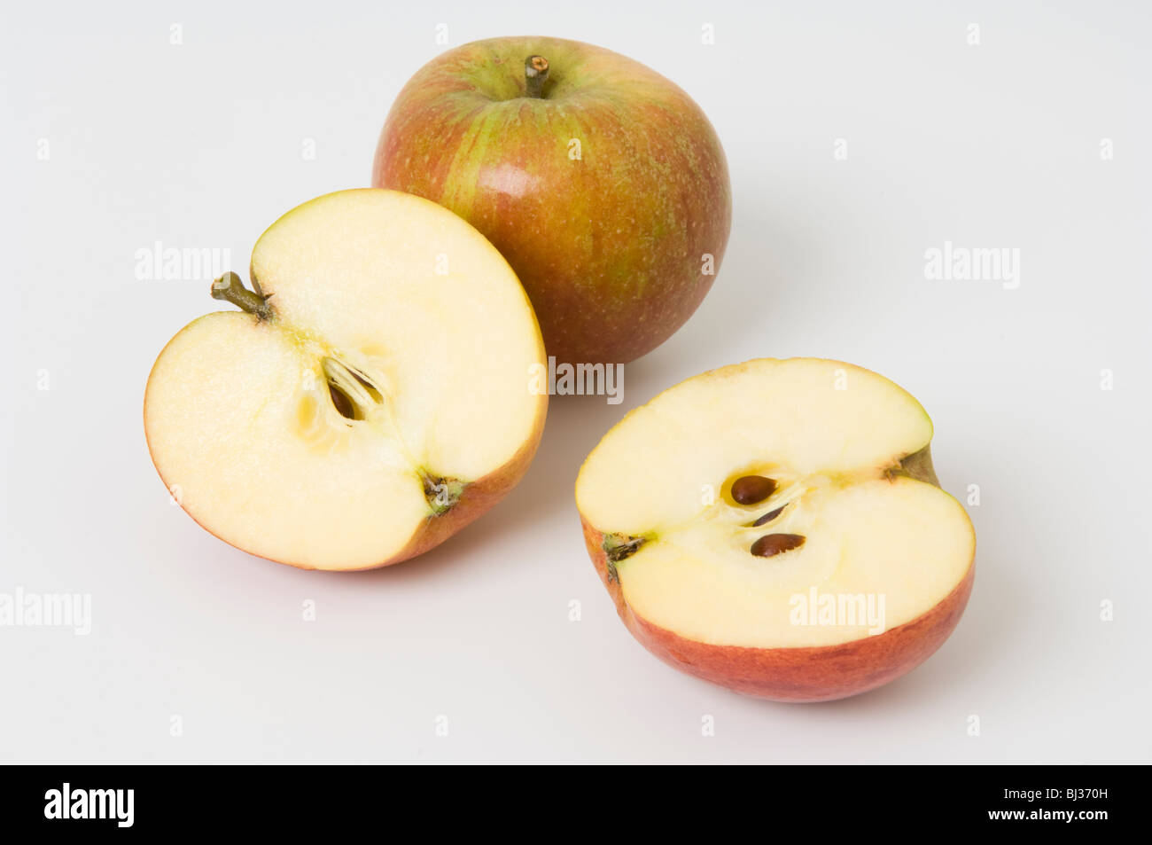 One Whole Apple And One Sliced In Half Stock Photo 28345537