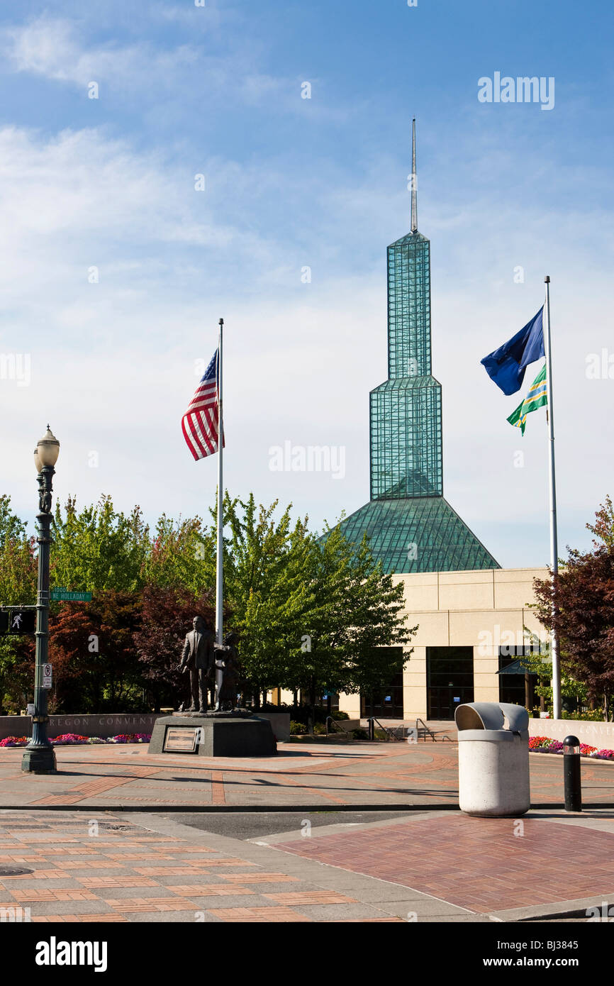 Oregon Convention Center, Portland, Oregon, USA - Stock Image