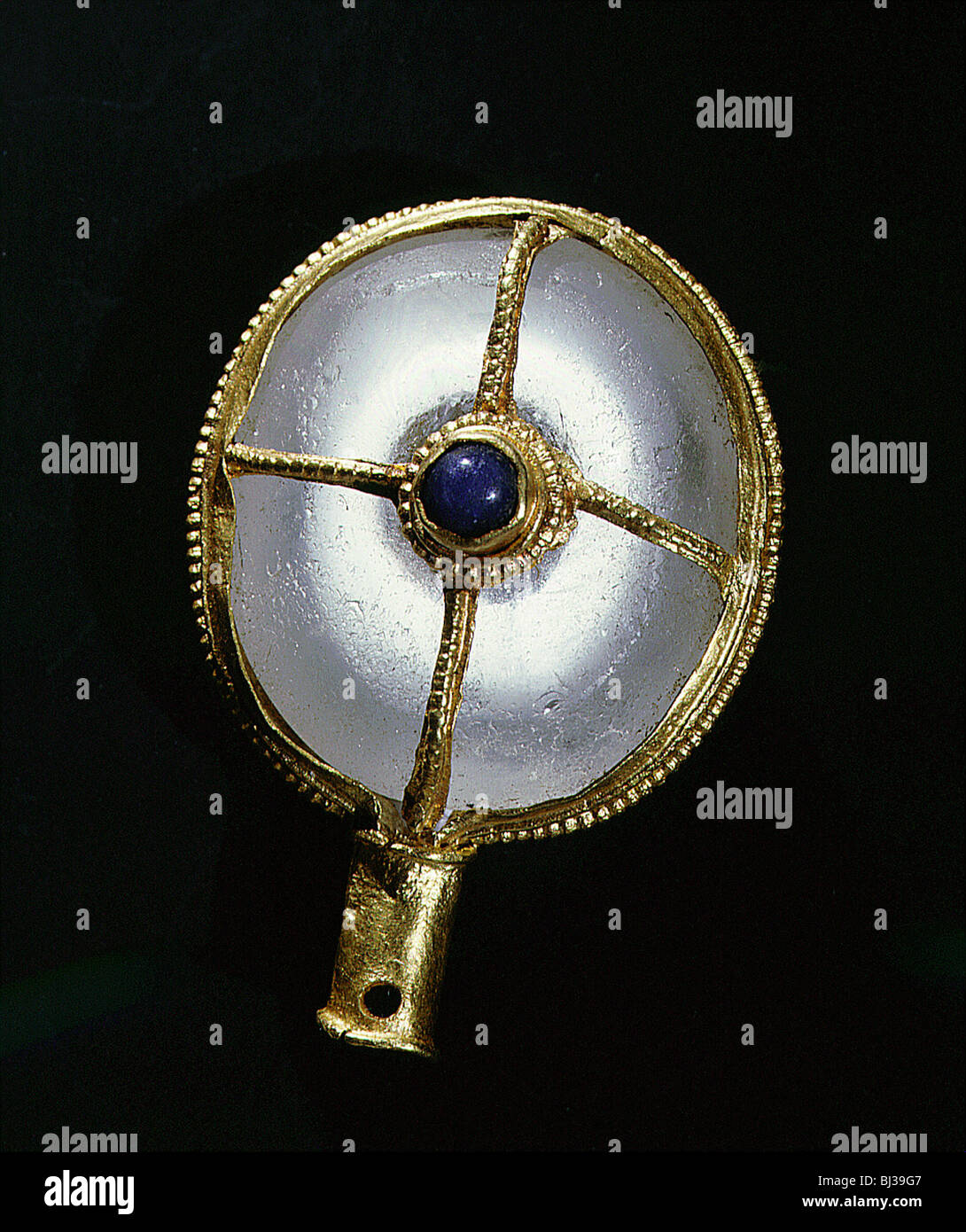 Rare Anglo-Saxon aestel or manuscript pointer, 9th century. Artist: Werner Forman - Stock Image