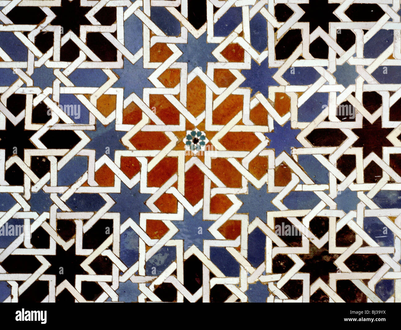 Ceramic tiles from the Alcazar of Seville, Andalusia, Spain, 14th ...