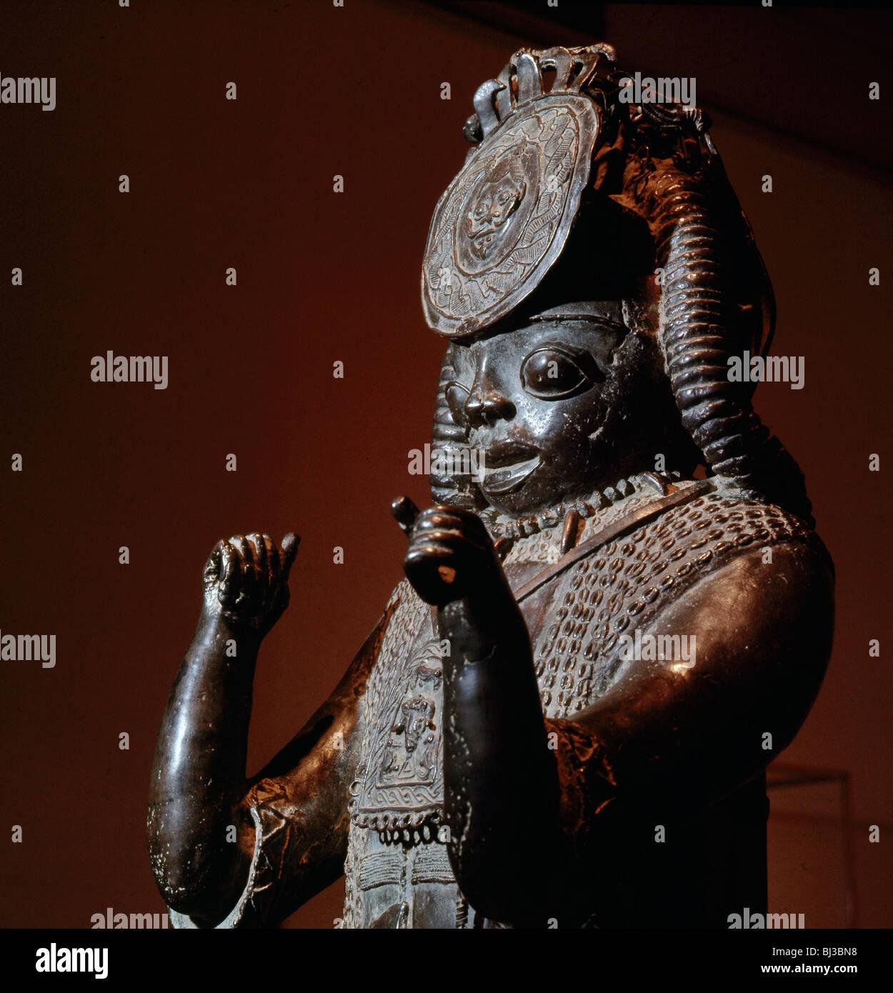 Tsoede bronze, from Tada, Nigeria, c14th-15th century. Artist: Werner Forman - Stock Image