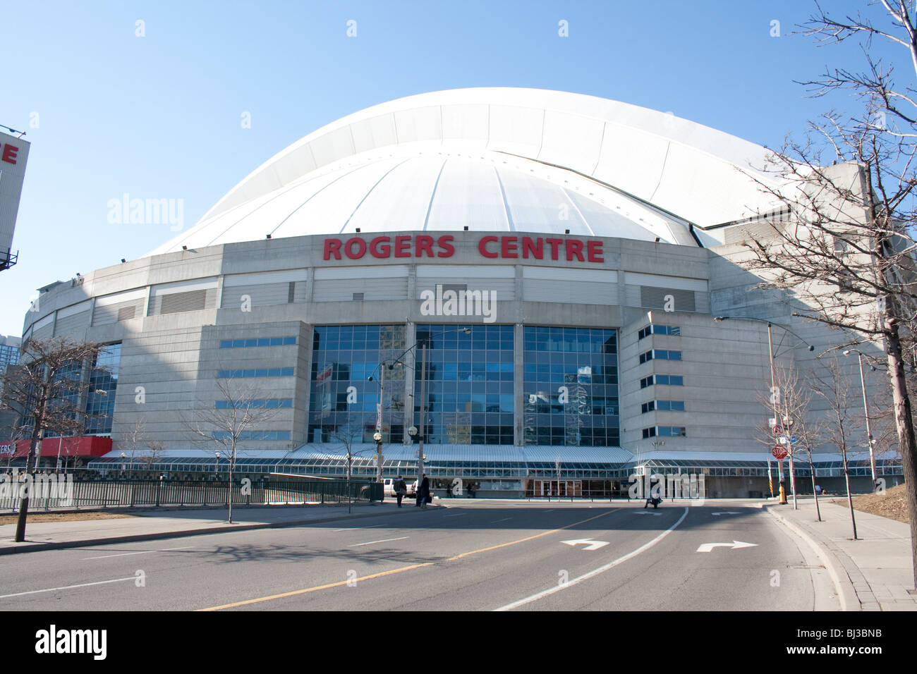 Entrance to the Rogers centre sports stadium, home of the toronto blue jays baseball team - Stock Image
