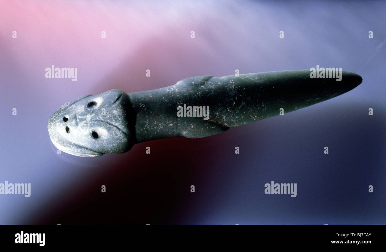Taino stone ceremonial axe, Dominican Republic, c1000-1400. Artist: Werner Forman - Stock Image