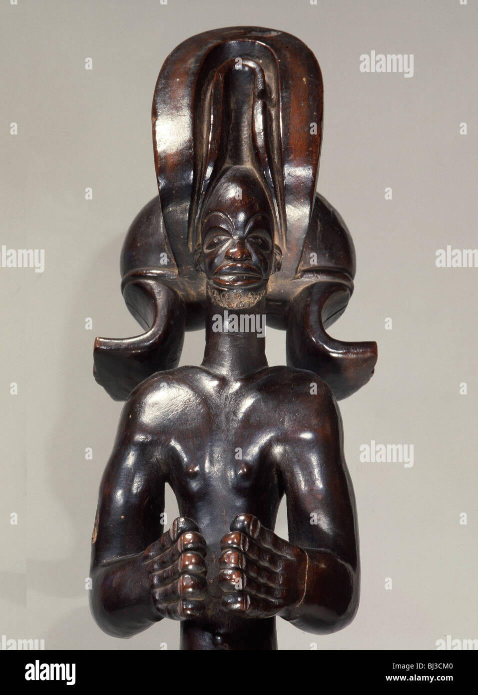 Chokwe wooden figure, northern Angola or south-west DR Congo, 19th-20th century. Artist: Werner Forman - Stock Image