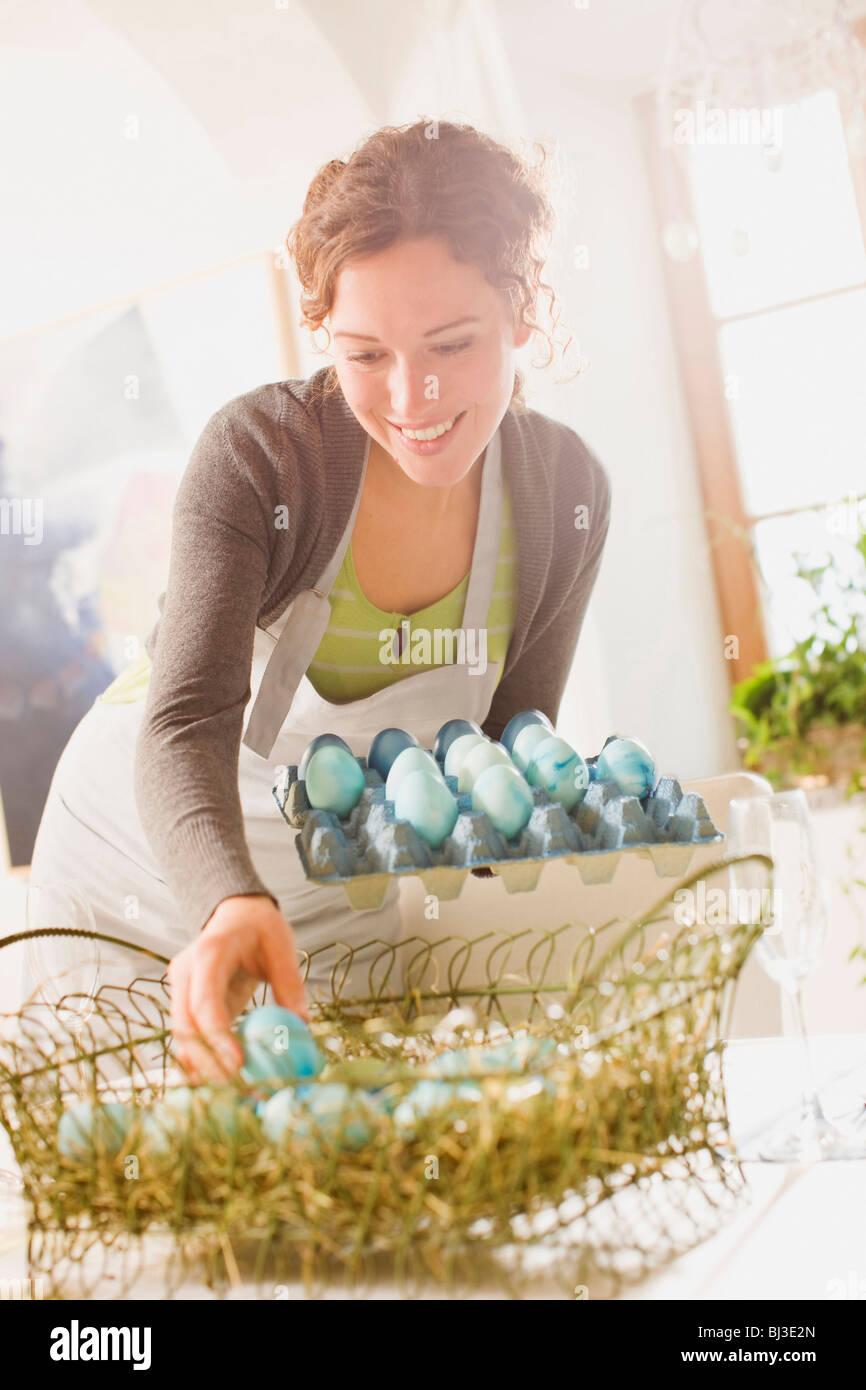 Easter arrangements - Stock Image