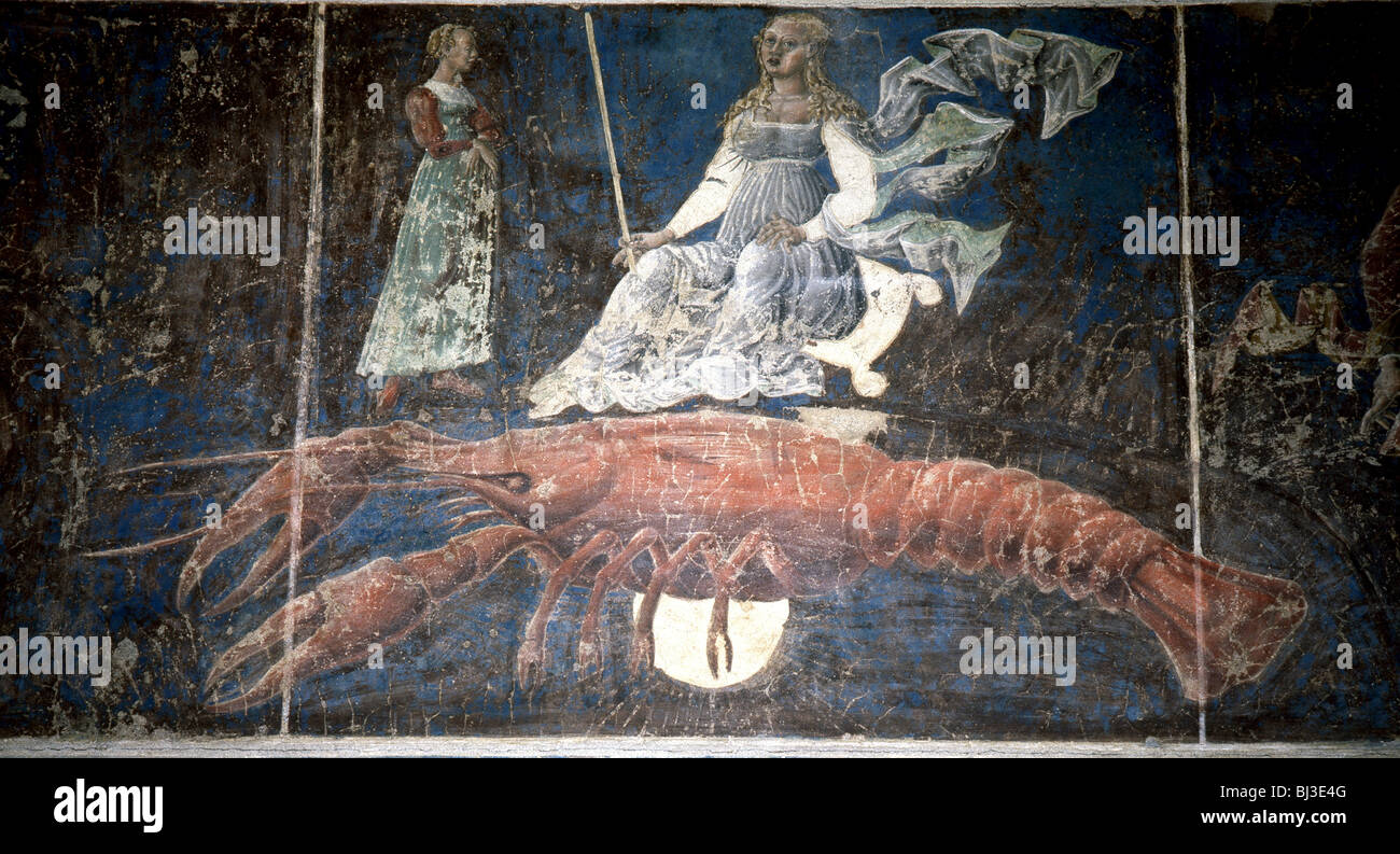 Allegorical representation of the signs of the zodiac by Cosimo Tura, Italian, c1469-1470. Artist: Werner Forman - Stock Image