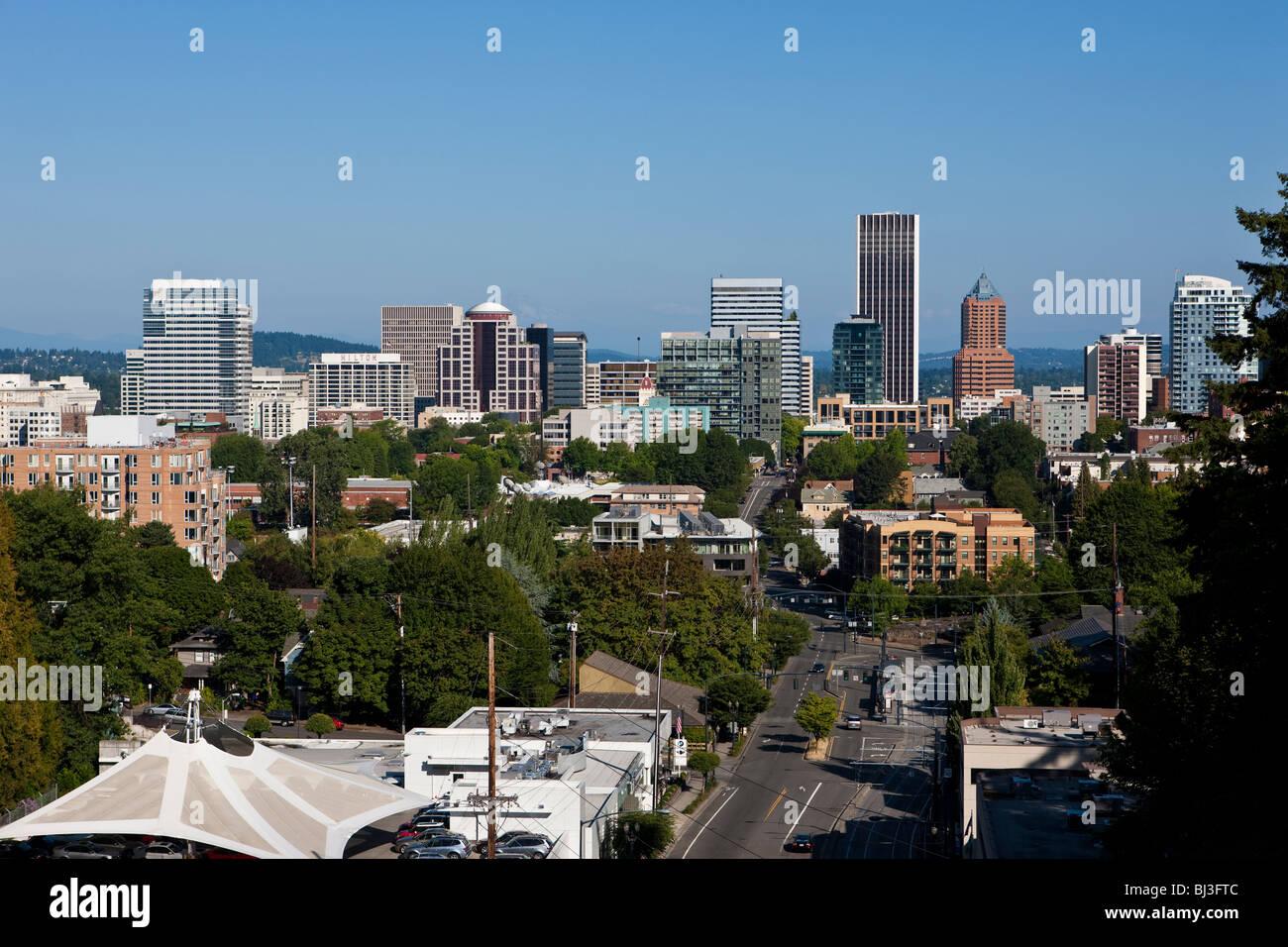 View of Portland, Orgeon, USA - Stock Image