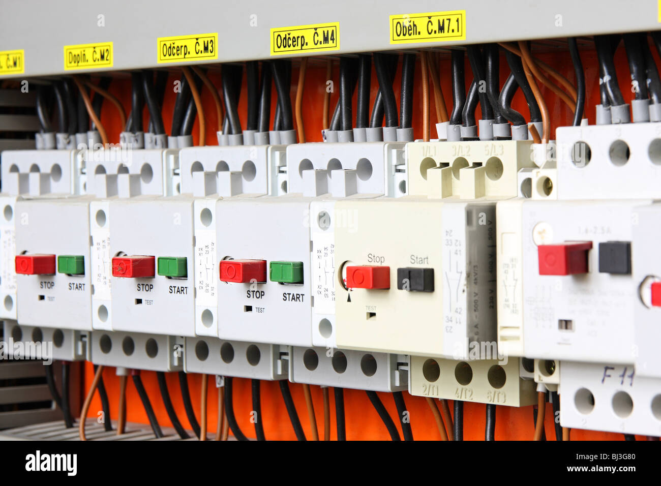 Residential Breaker Box Stock Photos M2 Fuse Switches In Fusebox Image