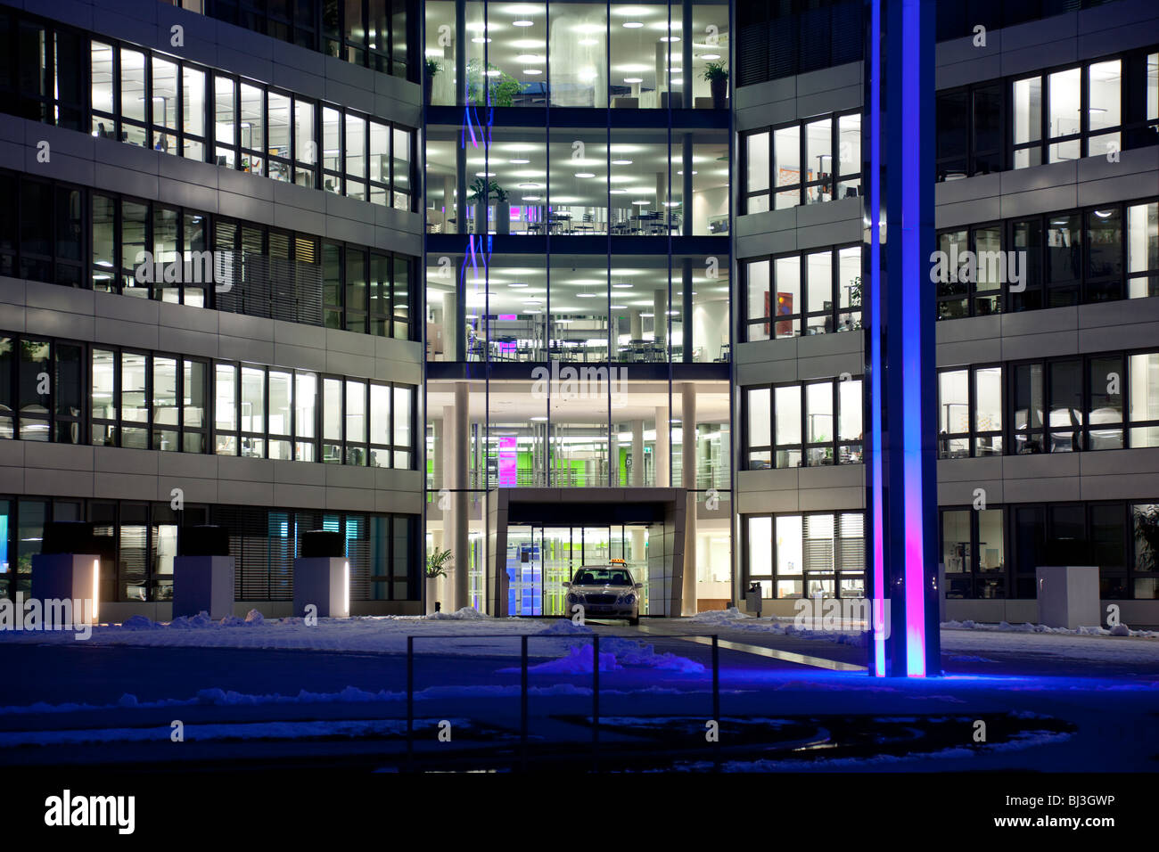 SAP headquarters, Walldorf, Germany. night shot, building, it-company, business software, - Stock Image