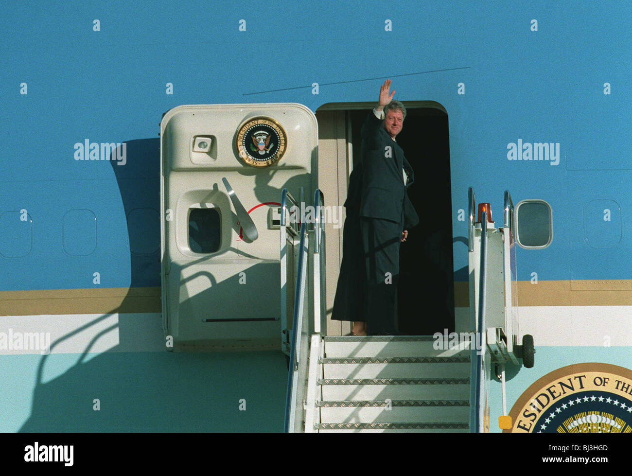 BILL CLINTON BOARDING AIRFORCE ONE 15 June 1994 - Stock Image