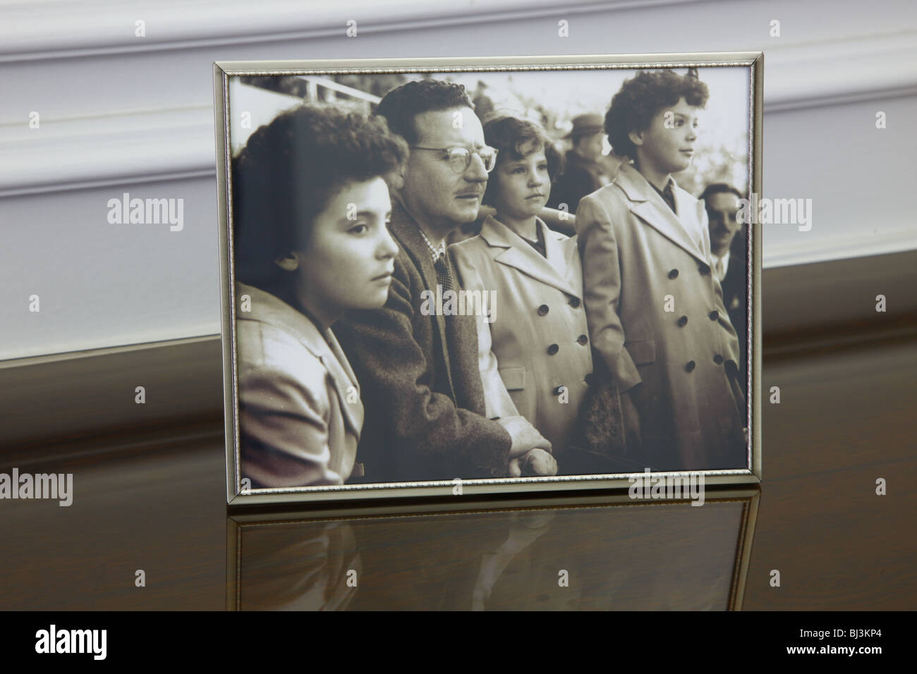 Family photograph in the offices of Salvador Allende, Santiago de Chile, Chile, South America - Stock Image