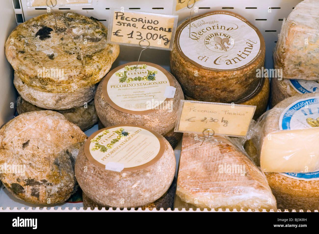 Pecorino cheese, Casa Corsini, deli, Castel del Piano, Tuscany, Italy, Europe Stock Photo