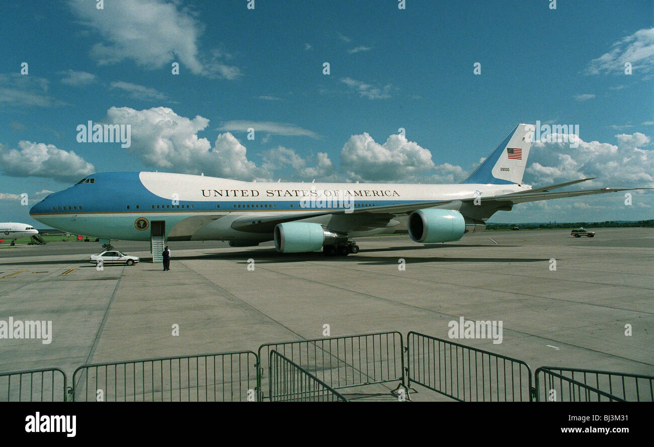 AIRFORCE ONE U.S. PRESIDENTIAL AEROPLANE 15 June 1994 - Stock Image