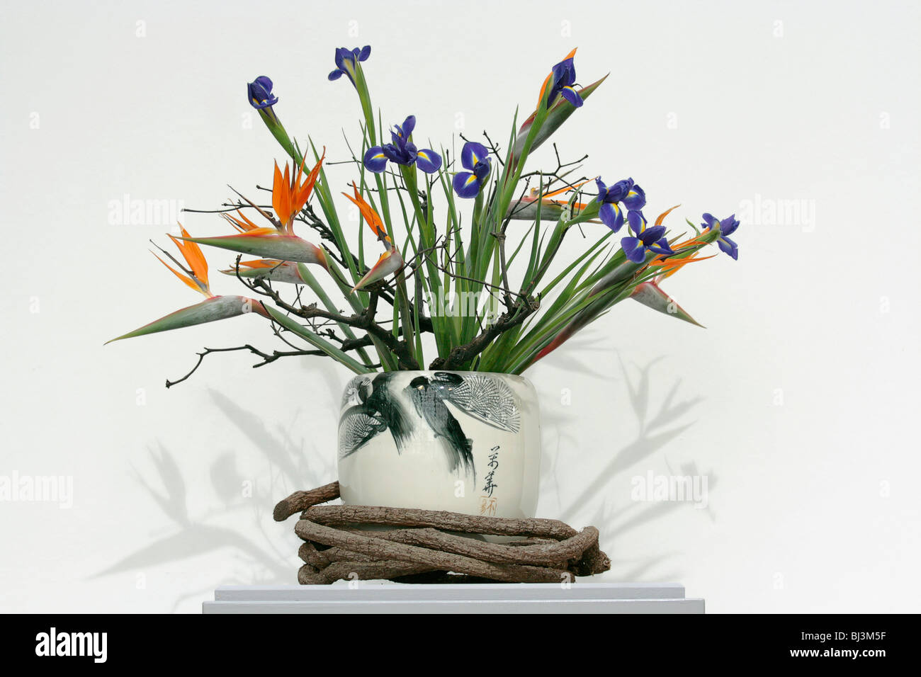Traditional Chinese flower arrangement Stock Photo