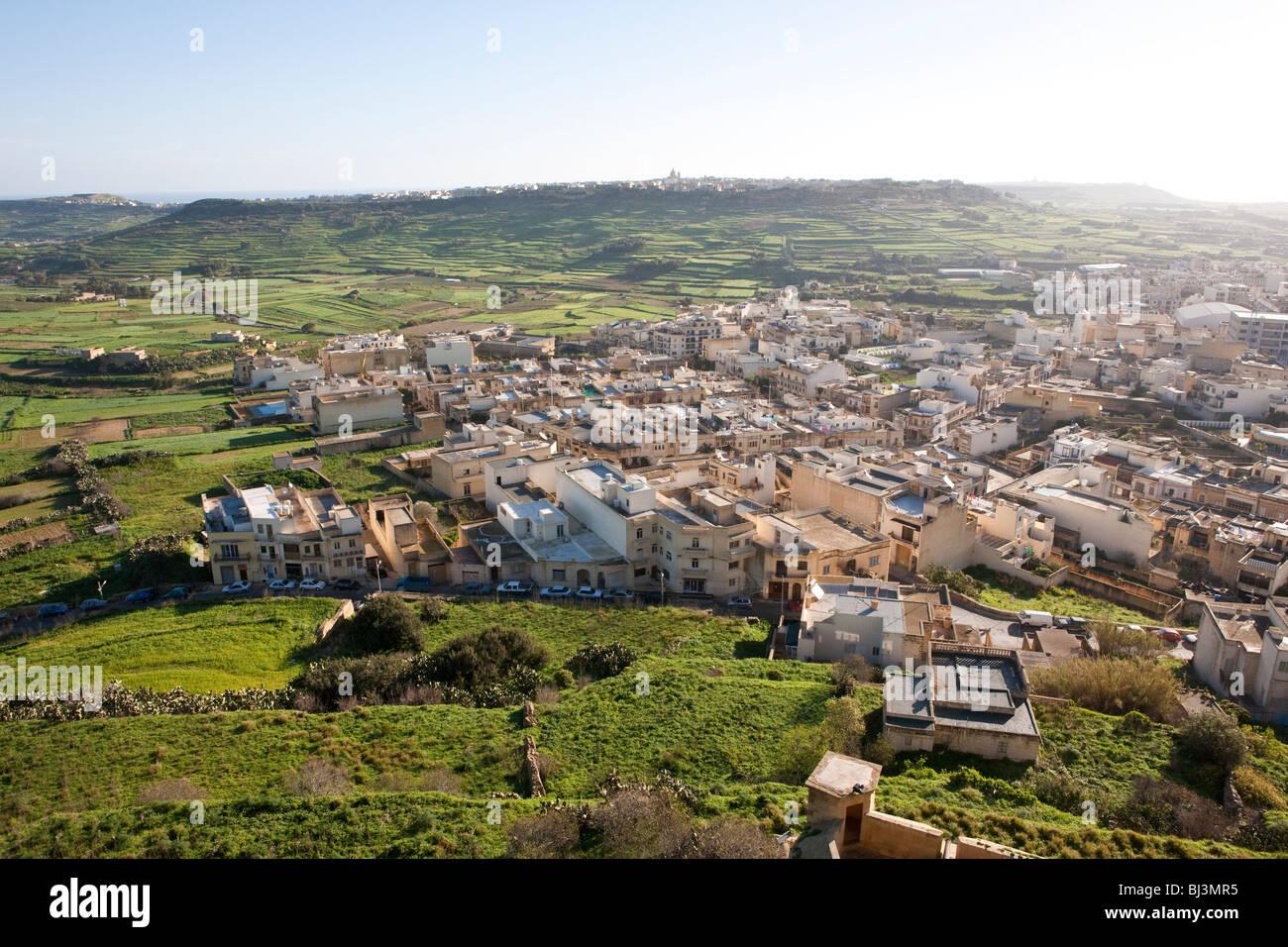 View from the Citadella or Citadel on Victoria, Rabat, Gozo, Malta, Europe Stock Photo